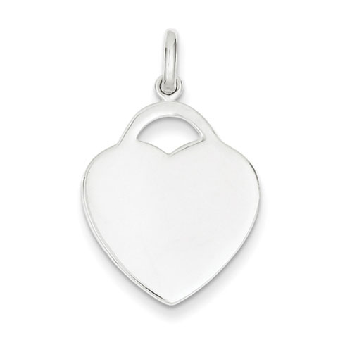 Sterling Silver 3/4in Engravable Heart Charm