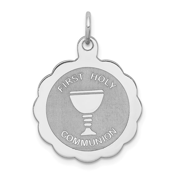 Sterling Silver 11/16in First Holy Communion Charm