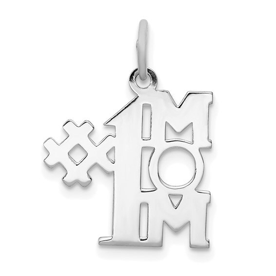 Sterling Silver # 1 Mom Charm
