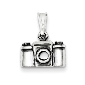 Sterling Silver Antiqued Camera Charm