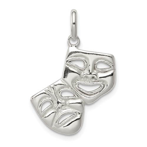 11/16in Sterling Silver Comedy Tragedy Charm