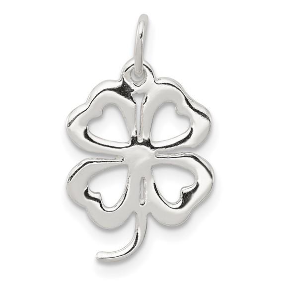 4-leaf Clover Charm - Sterling Silver