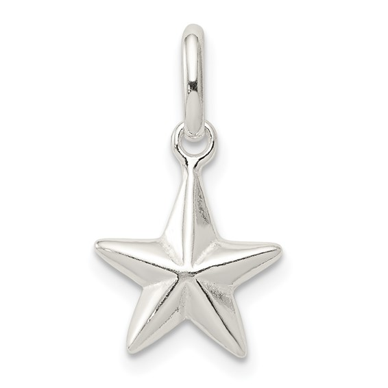Sterling Silver 3/8in Star Charm