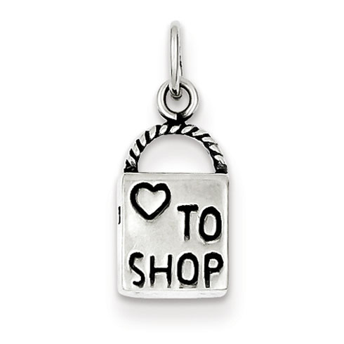 Sterling Silver Love to Shop Charm