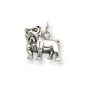 Sterling Silver Standing Bulldog Charm