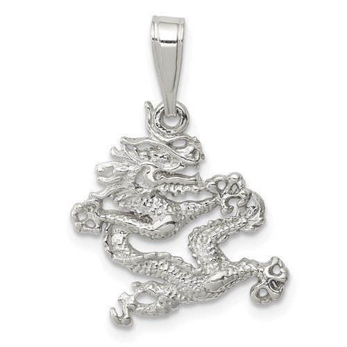 Sterling Silver 5/8in Dragon Charm