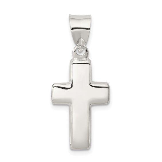 Sterling Silver 3/4in Cross Pendant