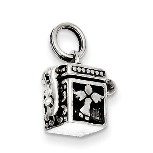 Sterling Silver Angel Box Charm