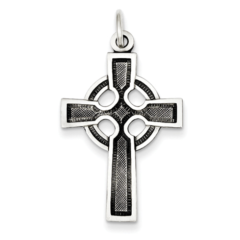 Celtic & Iona Cross 1 1/8in - Sterling Silver