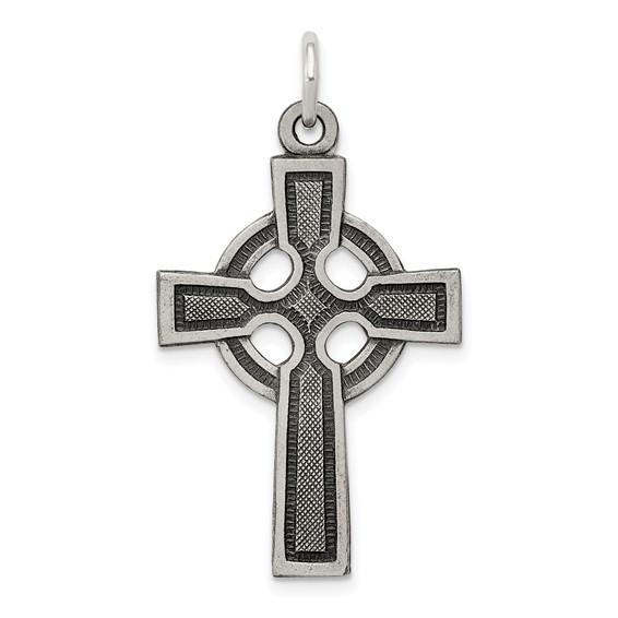 Celtic & Iona Cross 1 1/8in - Sterling Silver