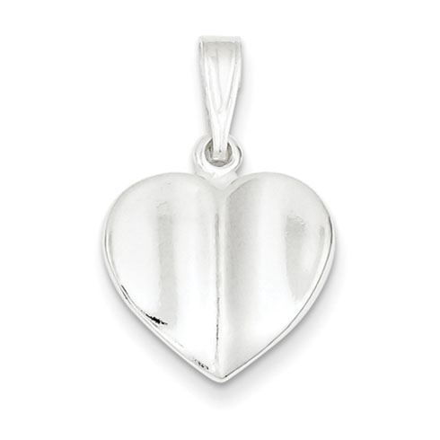 Sterling Silver Heart Charm 9/16in