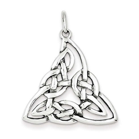 Sterling Silver 1in Triangular Celtic Knot Charm