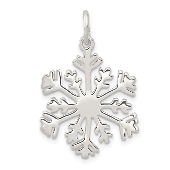 Sterling Silver 3/4in Snowflake Charm