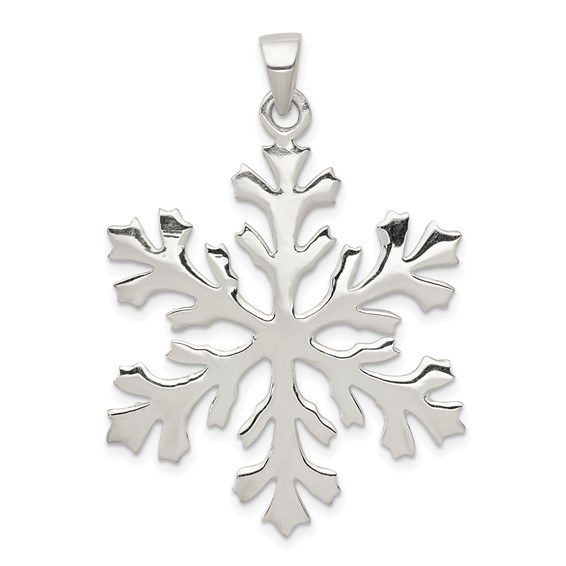 Sterling Silver Snowflake Pendant 1 1/4in