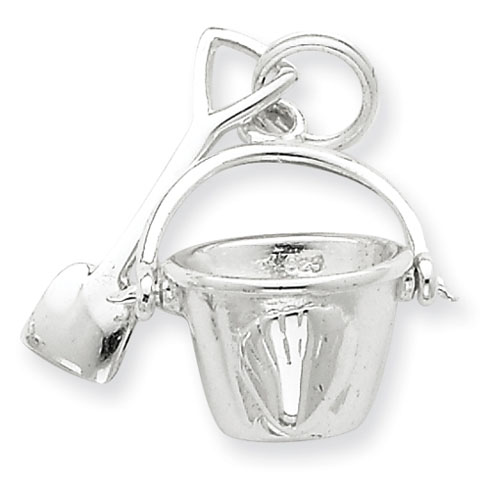 Sterling Silver Shovel and Pail Charm
