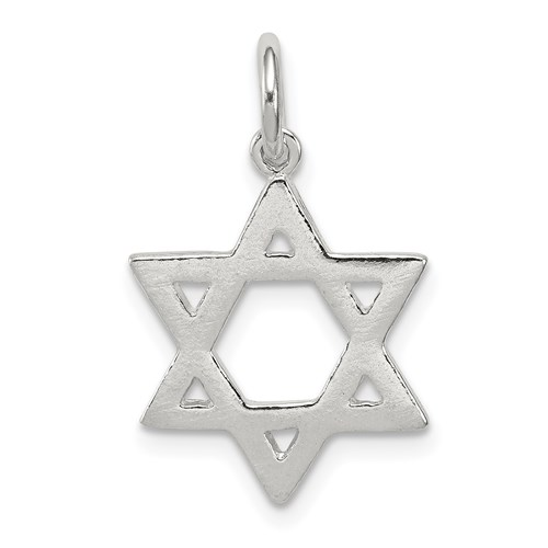 Star Of David Charm 5/8in Sterling Silver