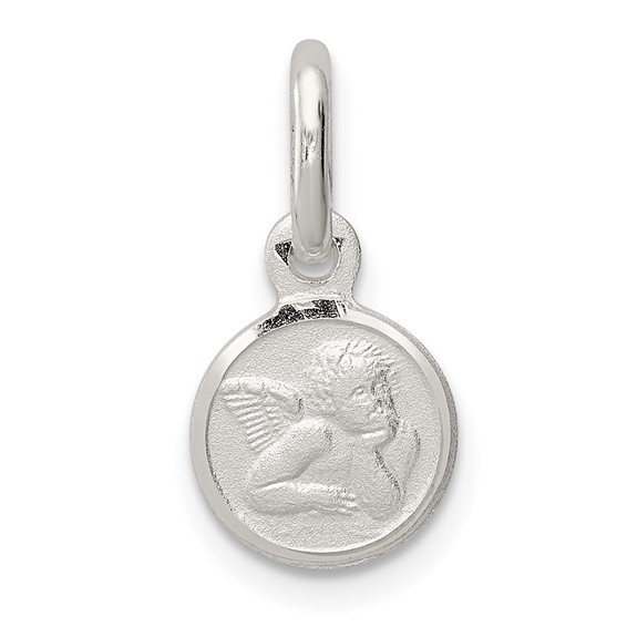 Sterling Silver 5/16in Round Raphael Angel Charm
