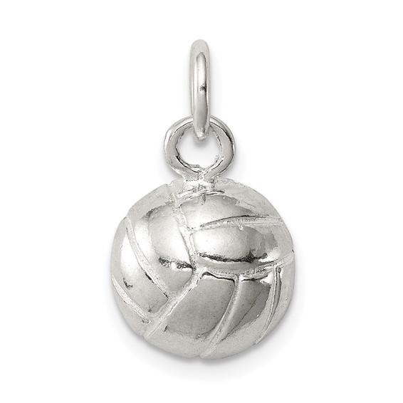 Sterling Silver 3/8in Volleyball Charm