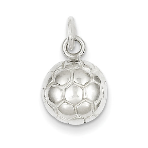 Sterling Silver Tiny Flat Soccer Ball Charm