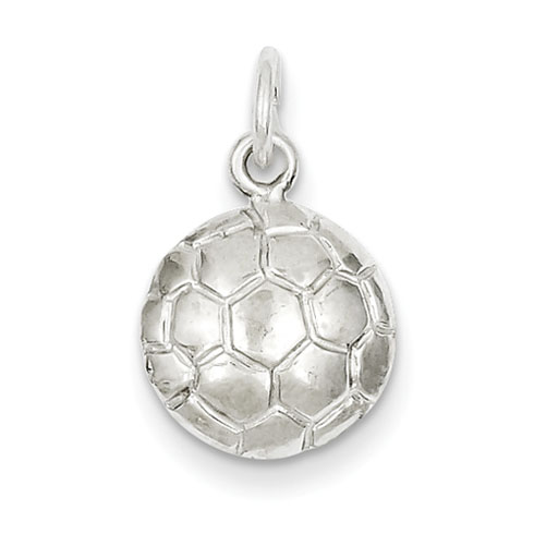 Sterling Silver Flat Soccer Ball Charm