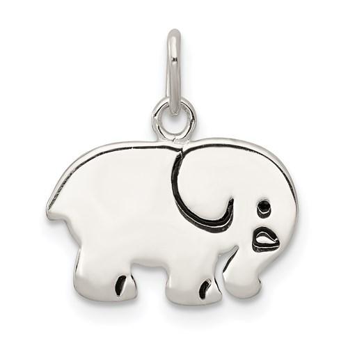 Sterling Silver 3/8in Enameled Elephant Charm