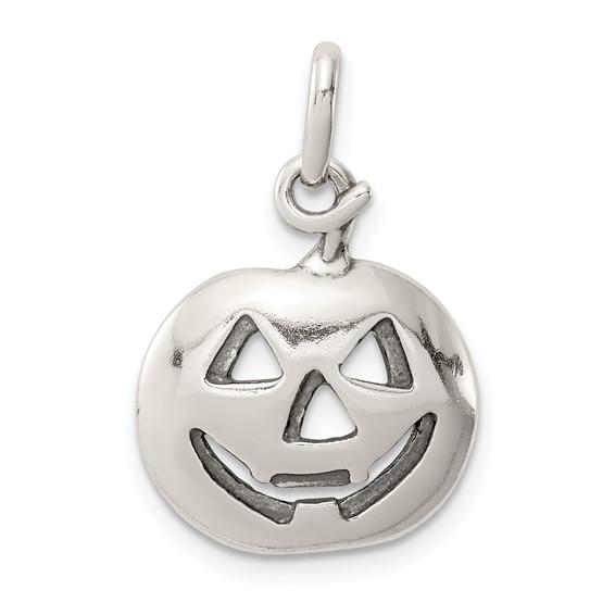 Sterling Silver 5/8in Jack o Lantern Charm