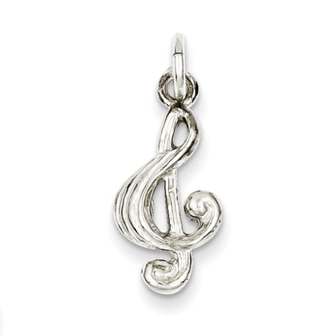 Sterling Silver Small Treble Clef Charm