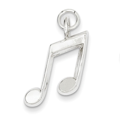 Sterling Silver Music Notes Charm