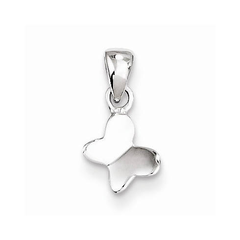 Sterling Silver 1/4in Butterfly Pendant