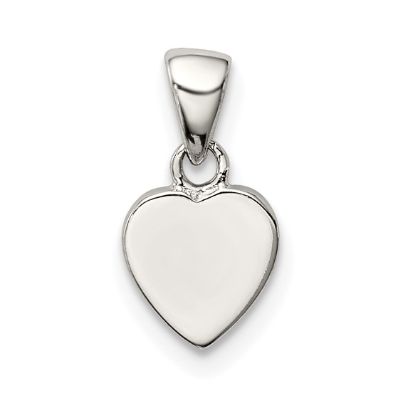 Sterling Silver 1/4in Heart Charm