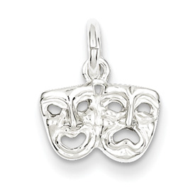 1/4in Sterling Silver Comedy Tragedy Charm