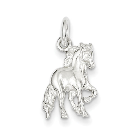 Sterling Silver 3-D Slender Horse Charm