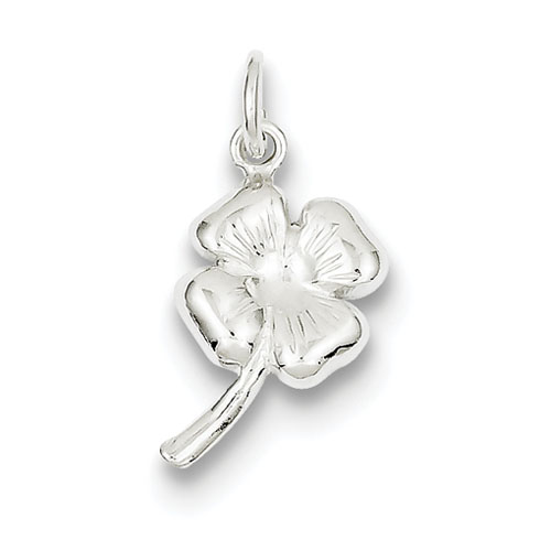 Sterling Silver 5/8in Four Leaf Clover Charm