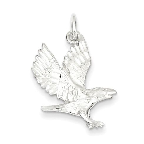 Sterling Silver 1in Flying Eagle Pendant