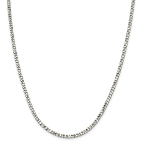 24in Sterling Silver 3.5mm Curb Chain