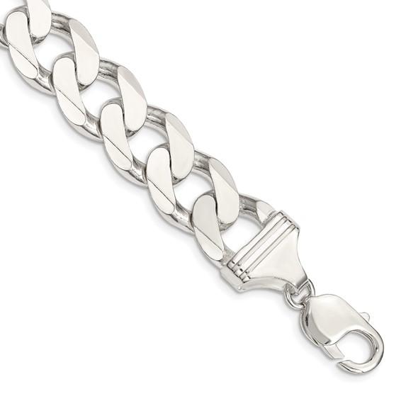 9in Curb Chain 15mm - Sterling Silver