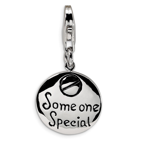 Sterling Silver Someone Special Charm with Lobster Clasp
