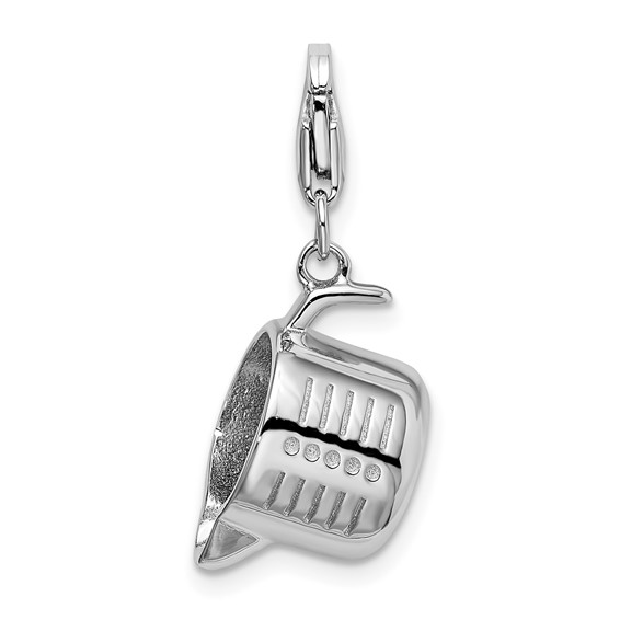 Sterling Silver Measuring Cup with Lobster Clasp Charm