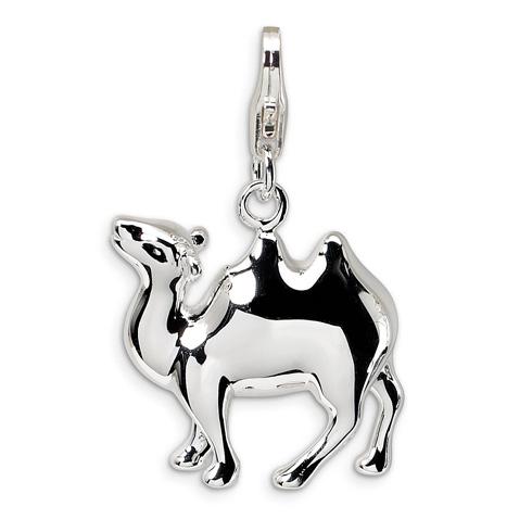 Sterling Silver 3-D Enameled Camel Charm