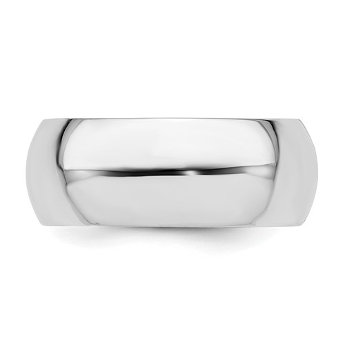 Sterling Silver 8mm Comfort Fit Wedding Band