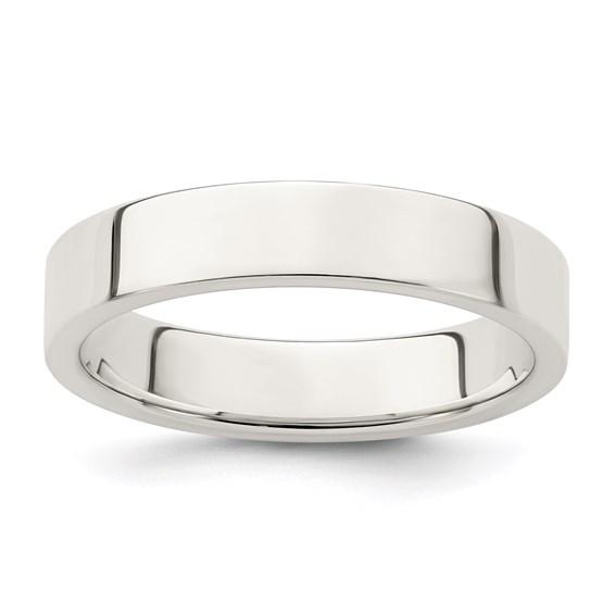 Sterling Silver 4mm Flat Wedding Band