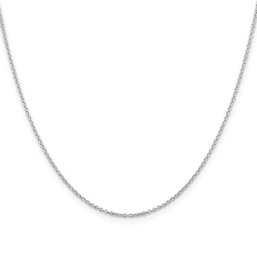 Sterling Silver 16in Cable Chain 1.25mm
