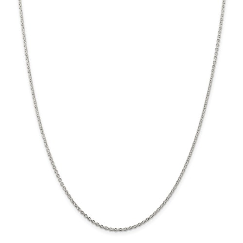 Sterling Silver 16in Cable Chain 1.95mm