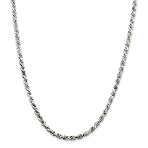 Sterling Silver 16in Rope Chain 4.75mm