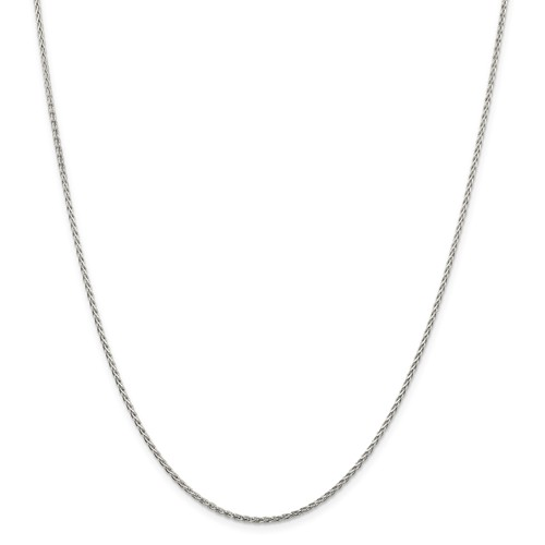 Sterling Silver 24in Diamond-Cut Spiga Chain 1.5mm