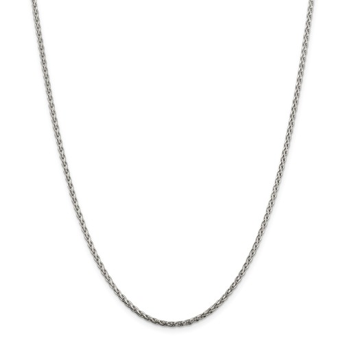 16in Sterling Silver 2mm Spiga Chain