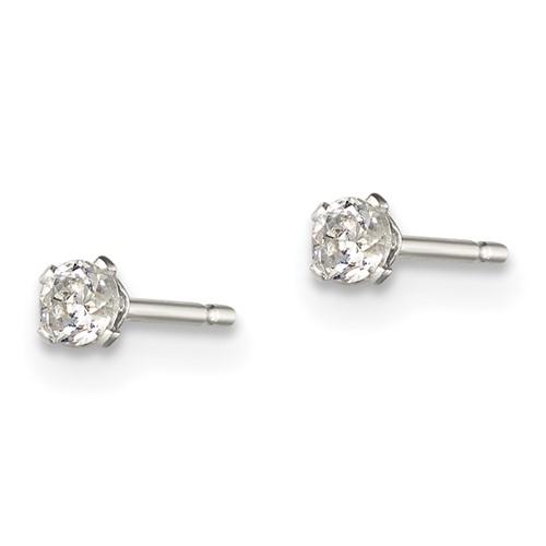 2.5mm CZ Stud Earrings