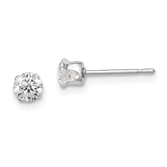 4.0mm CZ Stud Earrings