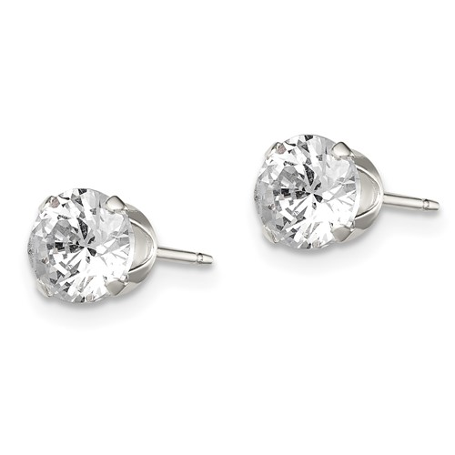 5.0mm CZ Stud Earrings