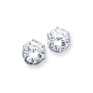 10.0mm CZ Stud Earrings